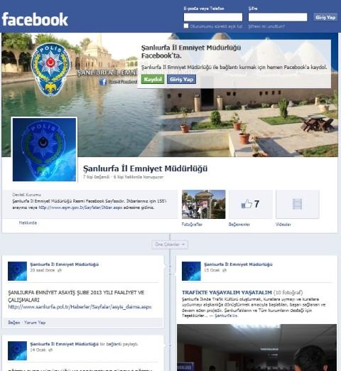 Şanlıurfa Emniyeti Artık Facebook'ta
