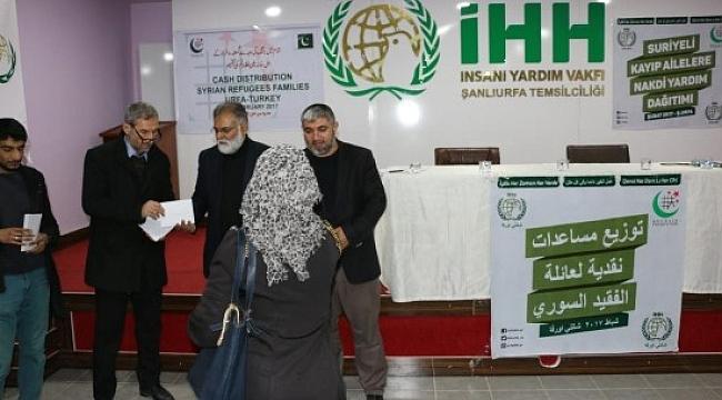 İHH Urfa'dan Suriyeli kayıp ailelerine nakdi yardım