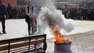 Şanlıurfa ve ilçelerinde öğrencilere yangın eğitimi