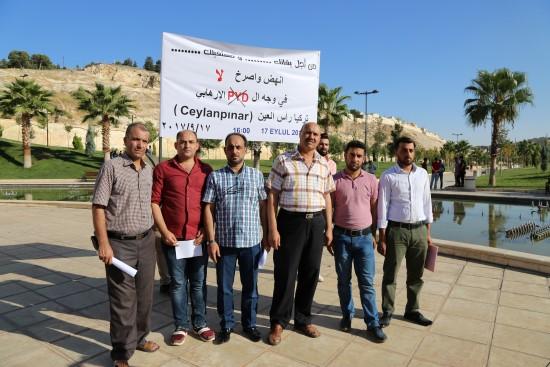 Suriyeliler terör örgütü PYD'yi kınadı