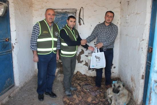 Yaralı köpeğe bakan gönüllüye teşekkür ziyareti