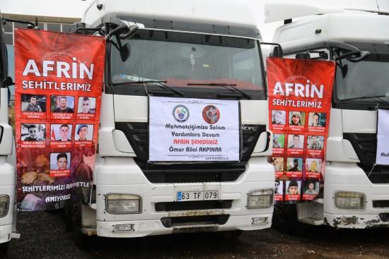 Şanlıurfa, Afrin'deki mazlum halkı unutmadı
