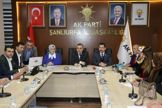 Baydilli Ak Parti İl Yönetimine çalışmalarını anlattı