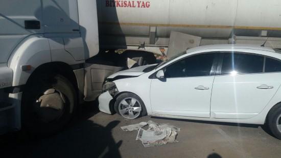 Kaza sonrası yaralı sürücü darp edildi