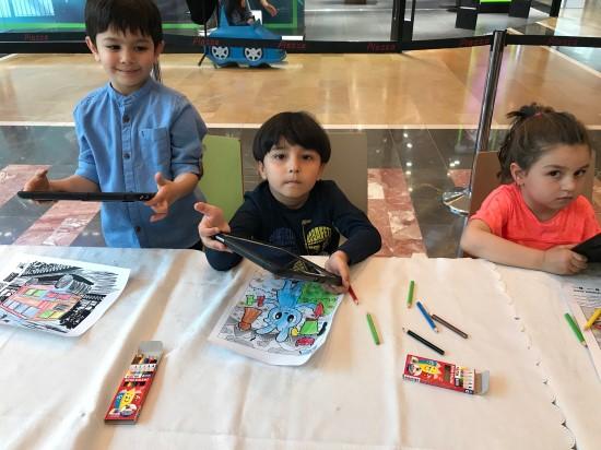 Çocuklar sınırsız hayal güçlerini keşfediyor