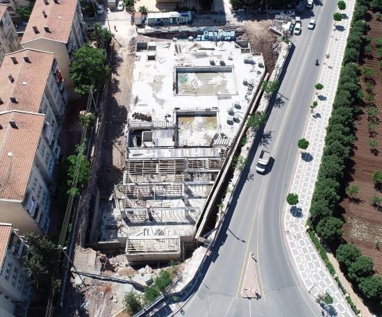 Gençlik ve Kültür merkezi inşaatı hızla yükseliyor