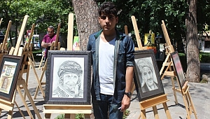Lise öğrencisinden resim sergisi