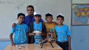 Yerli malzemelerle drone yaptılar