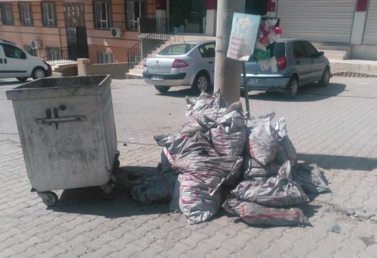 Devletin verdiği kömürü çöpe attılar