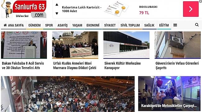 Şanlıurfa'nın en popüler sitesi sanliurfa63