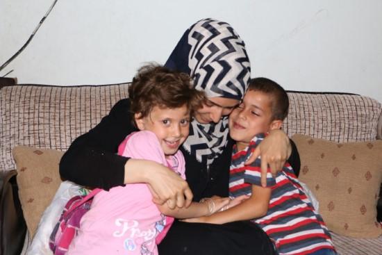Suriyeli anne, savaşın ayırdığı çocuklarına kavuştu
