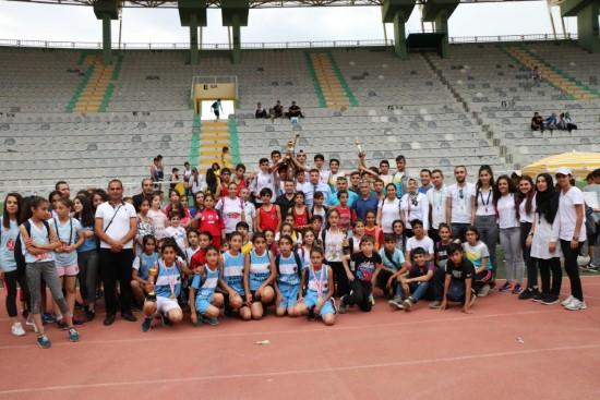 TAF küçükler atletizm festivali Şanlıurfa'da yapıldı