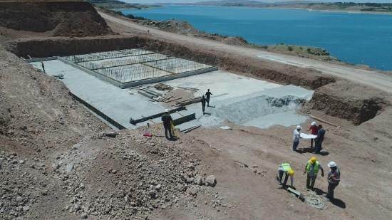 Hilvan içme suyu arıtma tesisi çalışmaları sürüyor