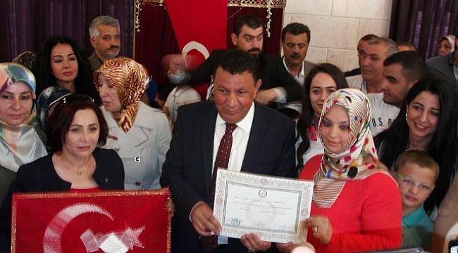 MHP'den Özyavuz'a Mazbata teslim töreni