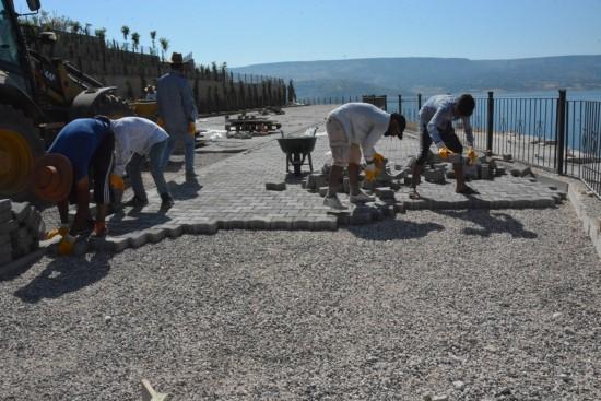 Mesire alanı ve sosyal tesislerinde kilit taşı çalışması