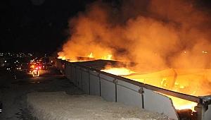 Şanlıurfa OSB'deki bir iplik fabrikasında yangın çıktı