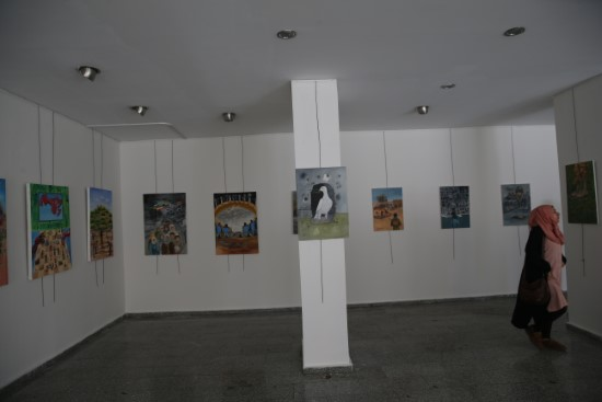 Suriyeli ressamlar şehitler için çizdi