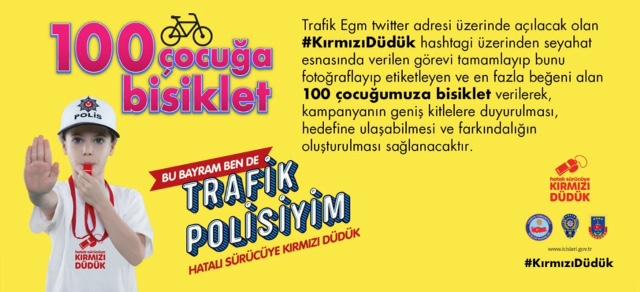En çok beğeni alan 100 çocuğa bisiklet