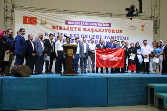 Büyükşehir, TSE ISO Kalite belgelerini aldı