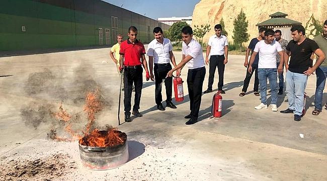 OSB'de yangın tatbikatı yapıldı.