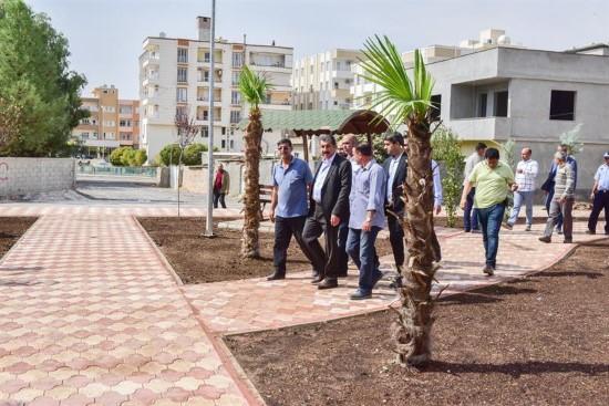 Atilla, Zeytin Dalı Parkı'nı İnceledi