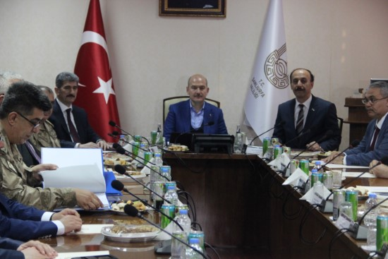 Bakan Soylu Güvenlik Toplantısına başkanlık yaptı