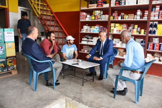 Bayık, Sanayi Sitesi Esnafını ziyaret etti