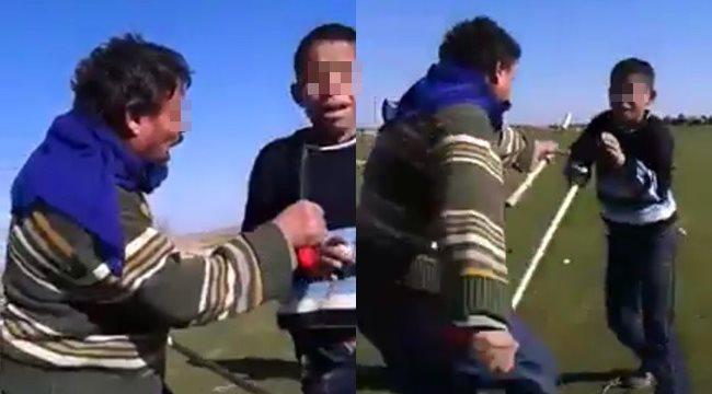 Küçük çocuğu sopa ve bıçakla darp etti - Video Haber