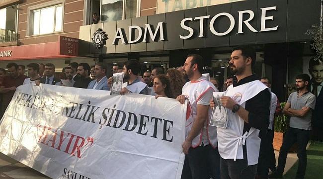 Hekimlere yönelik şiddet Şanlıurfa'da protesto edildi (video)