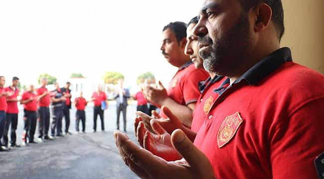 İtfayeciler dua ile mesaiye başlıyor