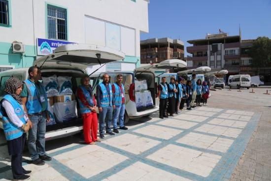 Eyyübiye belediyesi binlerce aileye yardımda bulundu