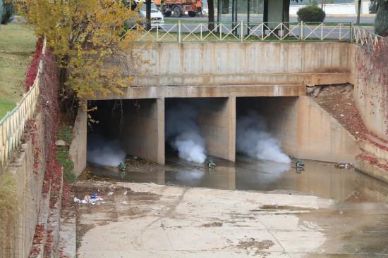 Haliliye belediyesinden larva mücadelesi