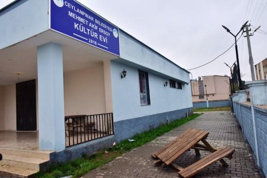 Kültür evi kimliği belirsiz kişilerce tahrip edildi