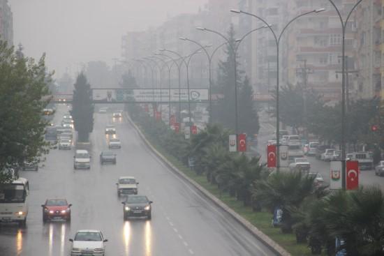 Şanlıurfa'da yağmur ve sis etkili oldu