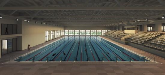 Tam olimpik yüzme havuzu yapımına başlandı