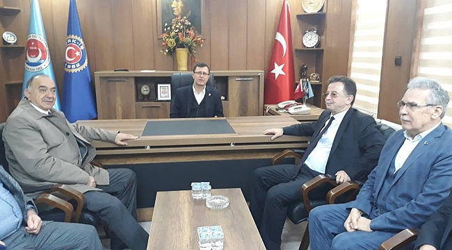 Tes-İş Genel başkanı Akma'dan Düzme'ye ziyaret