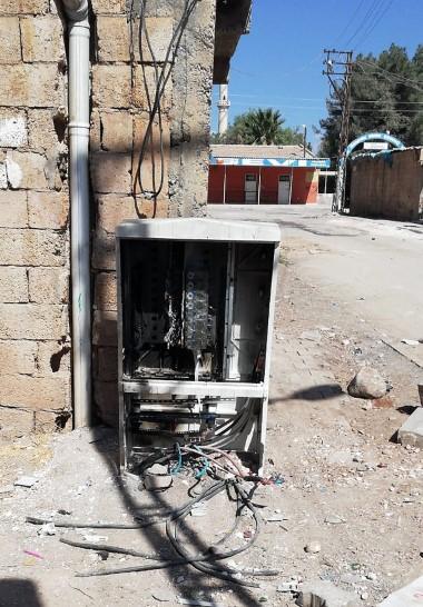 Viranşehir'de kaçağı önleyen 260 pano tahrip edildi