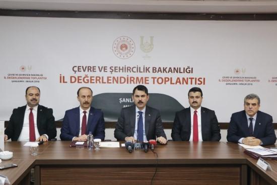 Bakan Kurum, Şanlıurfa için projelerini açıkladı
