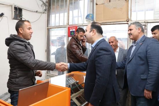 Çiftçi, Harran'da vatandaşlarla buluştu