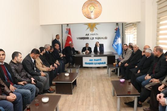 Çiftçi, Viranşehir'de parti teşkilatı ile buluştu