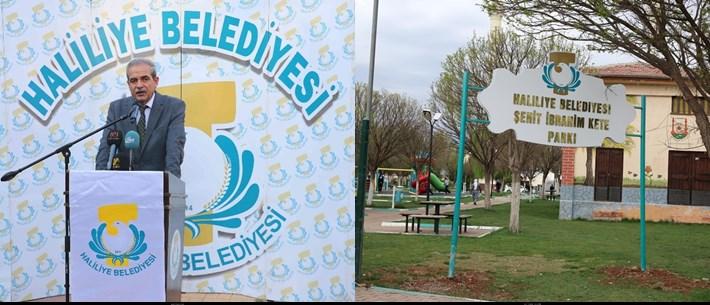 Haliliye Belediyesi Şehitlerin adlarını parklarda yaşatıyor