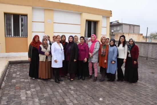 Hilvan'da 5 Aralık Dünya kadın hakları günü ziyareti
