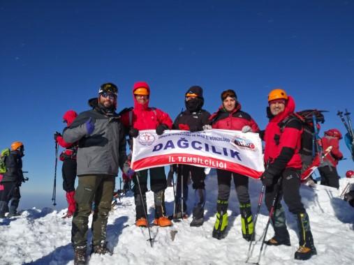 Şanlıurfalı dağcılar Kış zirve tırmanışına katıldı