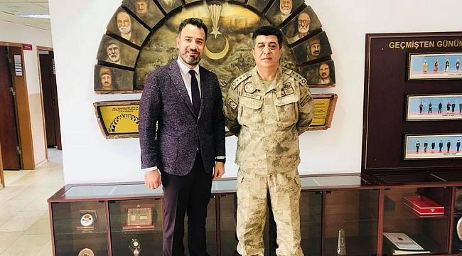Şelli'den İl Jandarma Komutanına ziyaret
