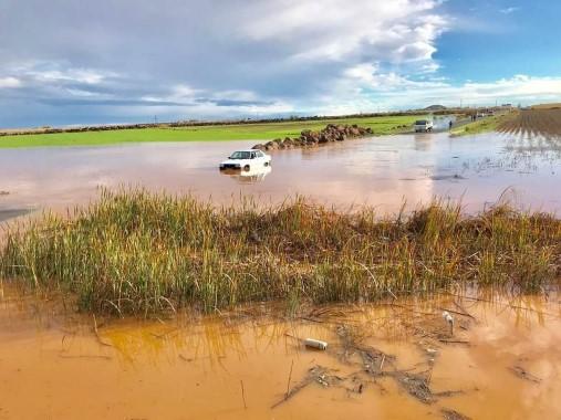 Şiddetli yağış bazı mahallelerde sele neden oldu
