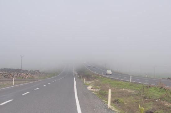 Siverek'te yoğun sis etkili oldu