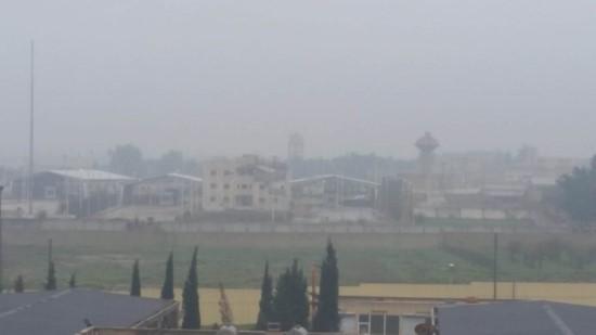 Tel Abyad'da yoğun sis