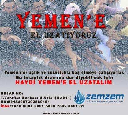 Zemzem Vakfından Yemen'e yardım eli