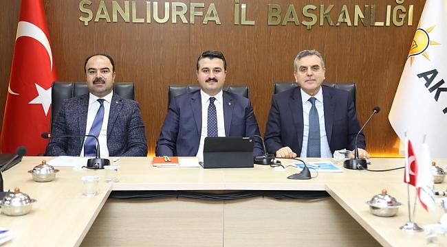 AK Parti Şanlıurfa il yönetim kurulu toplantısı yapıldı.