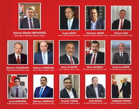 AK Parti Şanlıurfa ilçe adayları belli oldu